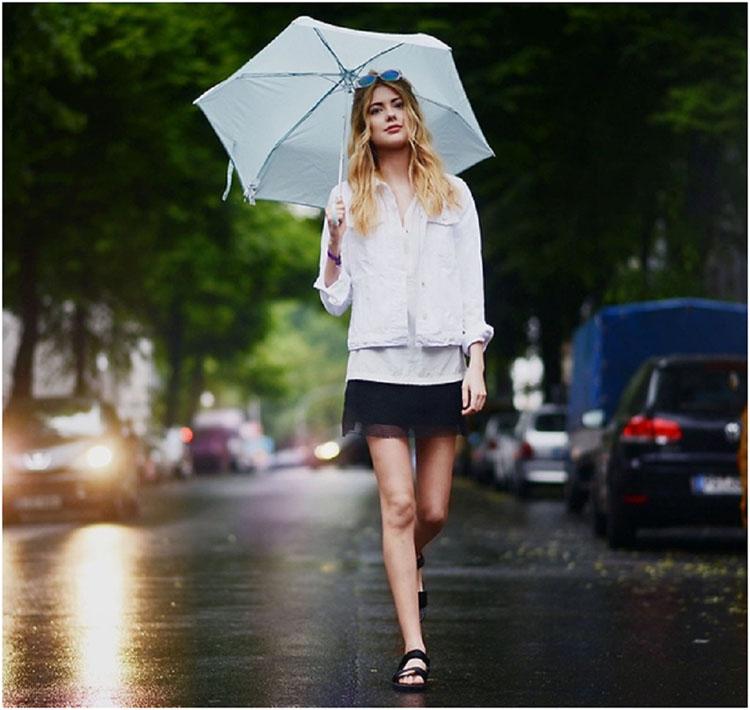 Những lưu ý khi chọn trang phục mùa mưa